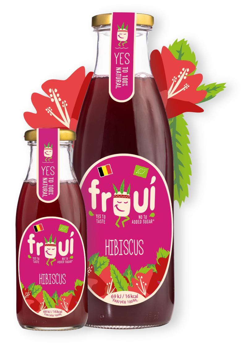 froui hibiscus drinks in several sizes